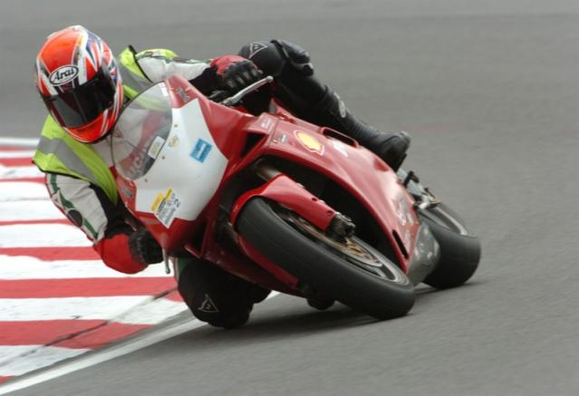 Brands Hatch in 2005 (don't know why I'm wearing a bib!)